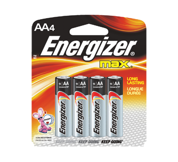 Image 2 of product Energizer - Batteries, Regular Packs, Max AA-4