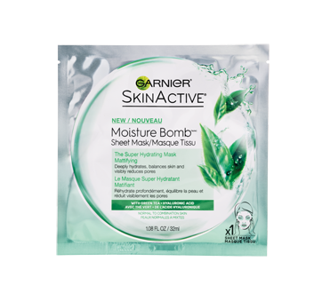Moisture Bomb Super Hydrating Mattifying Sheet Mask, 32 ml