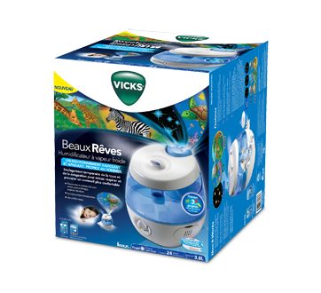 Image of product Vicks - Sweet Dreams Cool Mist Humidifier, 1 unit, Blue