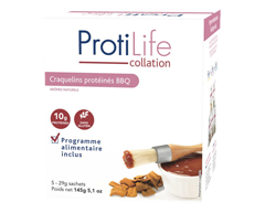 Image of product ProtiLife - Snack Protein Crisps, 5 x 29 g, BBQ