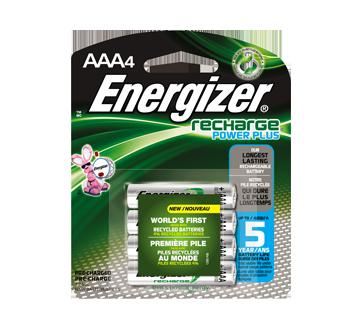 Batteries, Recharge Power Plus AAA-4
