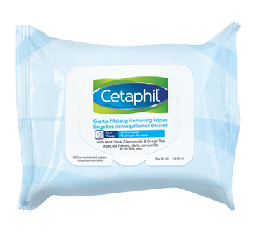 Image of product Cetaphil - Gentle Makeup Removing Wipes, 25 units