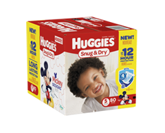 Image of product Huggies - Snug and Dry Diapers, 80 units, Step 5
