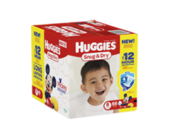 Image of product Huggies - Snug and Dry Diapers, 66 units, Step 6