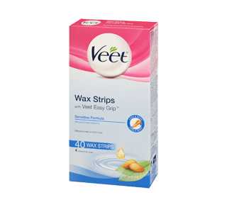 Easy-Gel Wax Strips Body & Legs Sensitive Skin, 44 units