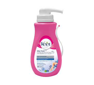 Silky Fresh In-Shower Hair Removal Cream, Legs & Body, Sensitive Skin, 400 ml