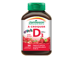 Image of product Jamieson - Kids Chewable Vitamin D 400 IU, 100 units