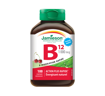 Image of product Jamieson - Vitamin B12 1,000 mcg Sublingual Tablets, 100 units