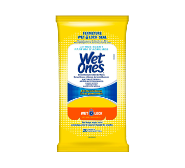 Antibacterial Hand Wipes, 20 units, Citrus Scent