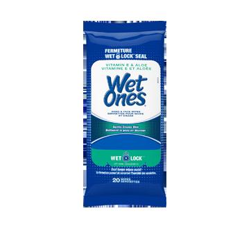 Hand Wipes with Vitamin E and Aloe, 20 units
