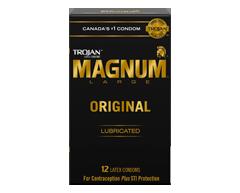 Image of product Trojan - Magnum Original Lubricated Condoms, 12 units