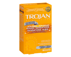 Image of product Trojan - Naked Sensations Ultra Ribbed Lubricated Condoms, 10 units