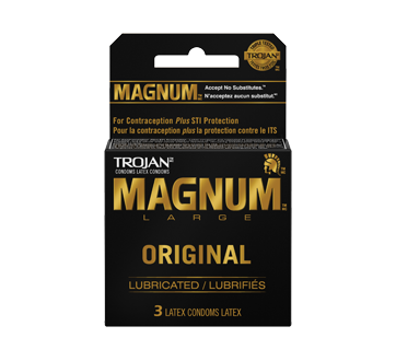 Image 1 of product Trojan - Magnum Lubricated Condoms, 3 units