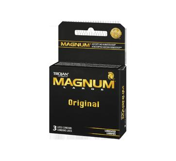 Image 2 of product Trojan - Magnum Lubricated Condoms, 3 units