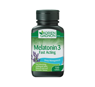 Image of product Adrien Gagnon - Melatonin Fast Acting, 100 units
