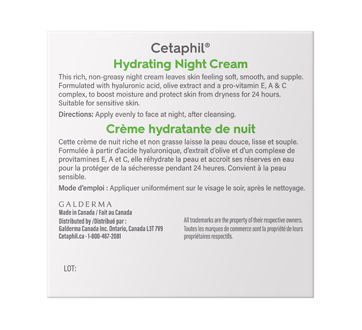 Image 2 of product Cetaphil - Hydrating Night Cream for Face, 48 g