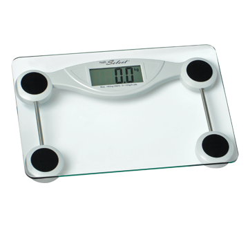 Glass Electronic Personal Scale, 17.5 x 7.5 x 20 cm