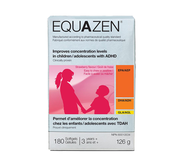 Image of product New Nordic - Equazen Concentration Softgels, 180 units, Strawberry