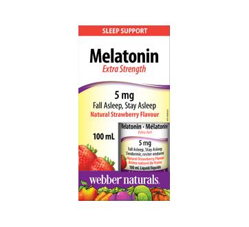 Image of product Webber Naturals - Liquid Melatonin 5 mg, Natural Strawberry, 100 ml