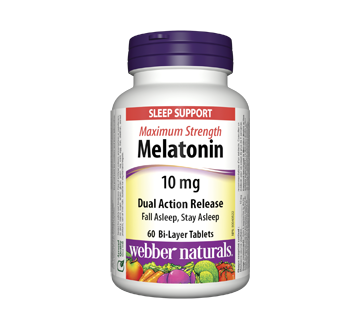 Image of product Webber - Melatonin Maximum Strength Dual Action Release, 60 units