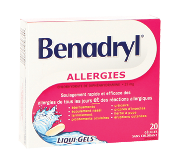 Image of product Benadryl - Benadryl Allergy Liqui-Gels, 20 units