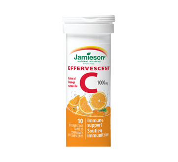 Image of product Jamieson - Effervescent C 1,000 mg - Orange, 10 units