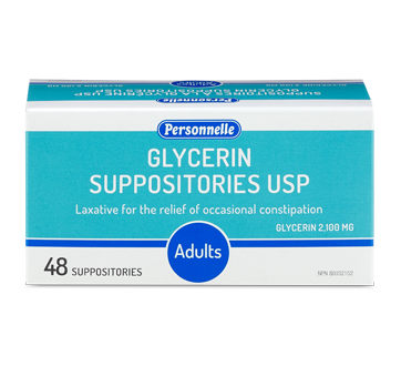 Image of product Personnelle - Glycerin Suppositories, 48 units