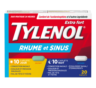 Tylenol Cold & Sinus Extra Strength Daytime/Nighttime Formula, 20 units