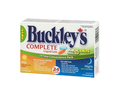 Image of product Buckley - Complete with Mucous Relief Daytime and Nighttime Formula, 24 units
