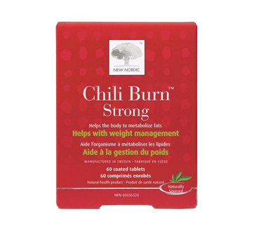 Image 1 of product New Nordic - Chili Burn Strong Metabolic Tablets, 60 units