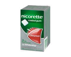Image of product Nicorette - Nicorette Gum, 105 units, 2 mg, Cinnamon