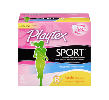Image 3 of product Playtex - Sport Plastic, 36 units, Unscented Regular
