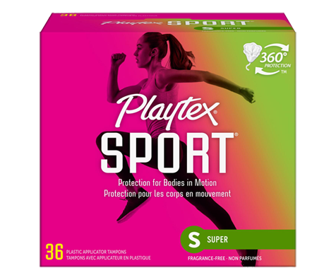 Sport Plastic 36 Tampons Unscented Super Playtex