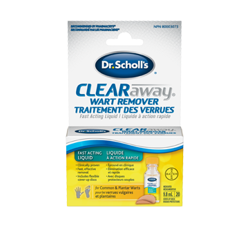 Image 1 of product Dr. Scholl's - Clearaway Wart Remover Fast Acting Liquid, 9.8 ml