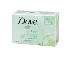 Image of product Dove - Go Fresh Beauty Bar, 2 x 90 g, Cool Moisture®