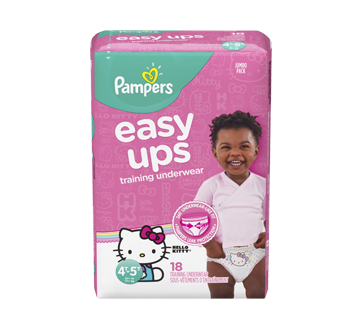 507e97848d9 Easy Ups Training Underwear for Girls, 18 units, Size 6, 4T-5T