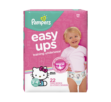 Easy Ups Training Underwear for Girls, 22 units, Size 5, 3T-4T