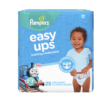 Easy Ups Training Underwear for Boys, 25 units, Size 4, 2T-3T