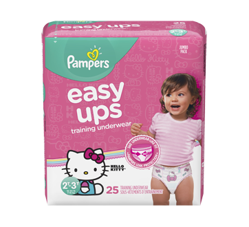 Easy Ups Training Underwear, 25 units, Size 4, 2T-3T