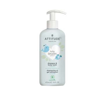 Baby Leaves 2-In-1 Natural Shampoo and Body Wash, 473 ml, Almond Milk