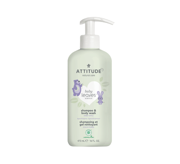 Baby Leaves 2-In-1 Natural Shampoo and Body Wash, 473 ml, Sweet Apple