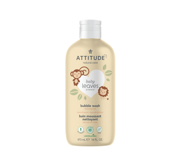 Image of product Attitude - Baby Leaves Natural Bubble Wash, 473 ml, Pear Nectar