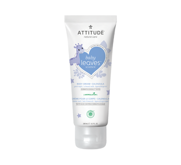 Baby Leaves Natural Soothing Body Cream, 200 ml, Almond Milk