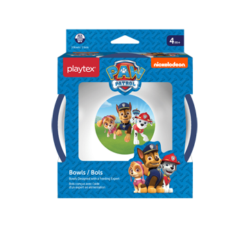 Image 1 of product Playtex Baby - Paw Patrol Bowls, Blue, 3 units