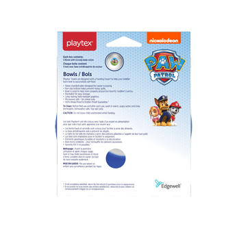 Image 2 of product Playtex Baby - Paw Patrol Bowls, Blue, 3 units