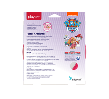 Image 2 of product Playtex Baby - Paw Patrol Plates, Pink, 2 units