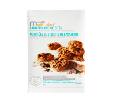 Milkmakers Lactation Cookie Bites, Oatmeal Chocolate Chip, 57 g
