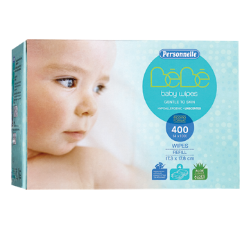 Baby Wipes Unscented, 400 units