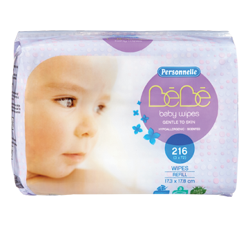 Baby Wipes Scented, 216 units