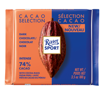 Cacao Selection Dark Chocolate, Peru 74%, 100 g